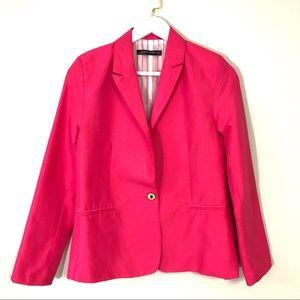 Zara women pink button blazer